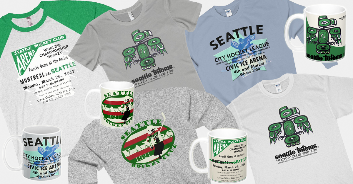 42e35ca784 Since then, the city has seen many teams, professional and amateur, skate  on Seattle ice. This small collection pays homage to Seattle's rich hockey  history ...